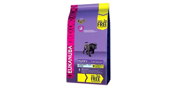 Granule Eukanuba Puppy & Junior Large Breed 15 kg + 3 kg ZDARMA + Doprava zdarma2