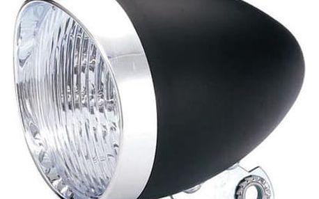 Světlo přední diodové bateriové Retro černé