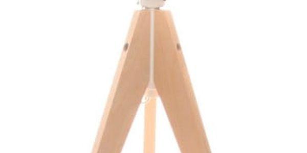 Modrá stolní lampa 4room Artista, bříza, Ø 33cm