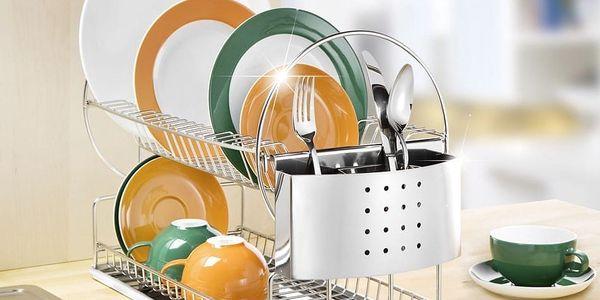 Odkapávač na nádobí, Sušák DUO EXCLUSIV - 2 úrovně, WENKO5