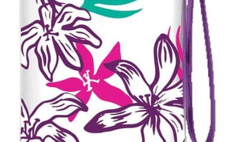 Láhev na vodu s fialovým víčkem a potiskemAladdin Aveo Bloom,600ml