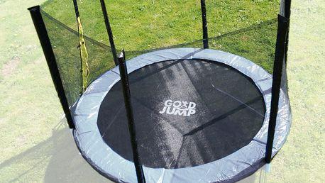 Ochranná síť na trampolínu 244 cm (250 cm) -PE -na 6 trubek- černá