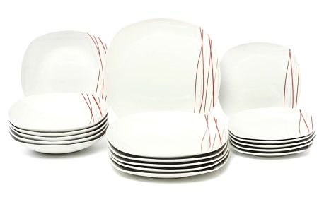 SENCILLA Jídelní souprava talířů z porcelánu 18dílná, MÄSER