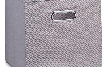 Koš pro skladování potravin, organizér, šedá barva, 32 x 32 x 32 cm, ZELLER