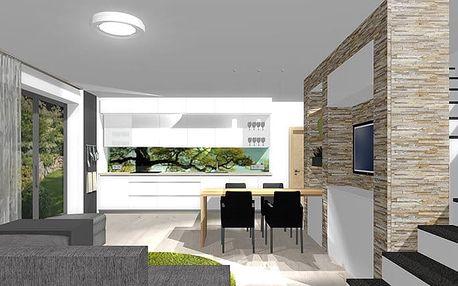 3D návrh interiéru jedné místnosti + konzultace od studia IF Design