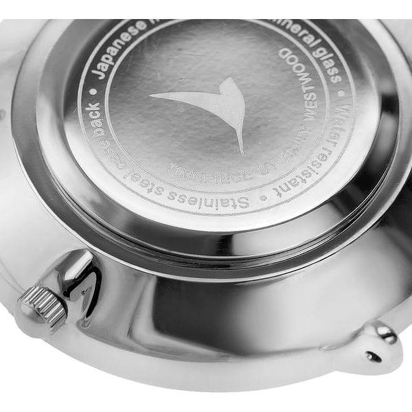 Dámské hodinky s černým páskem z nerezové oceli Emily Westwood Black2