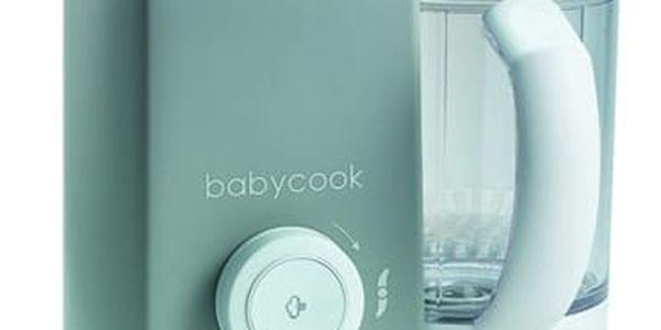 Parní vařič + mixér Beaba BABYCOOK SOLO šedý