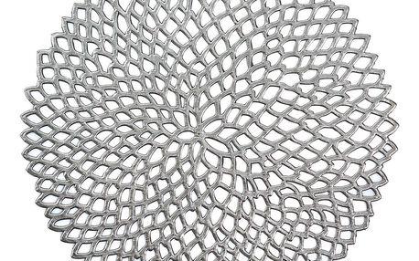 Ochranná podložka, dekorační podložka na stůl - stříbrná, Ø 38 cm, ZELLER