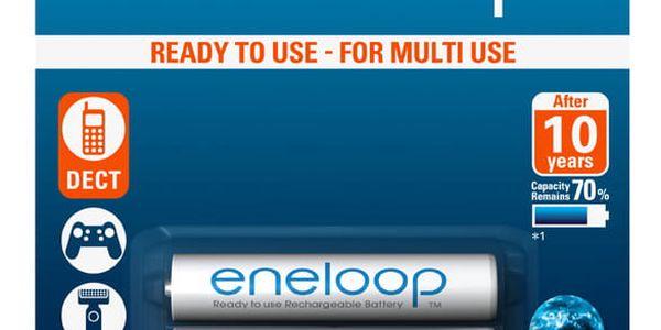 Baterie nabíjecí Panasonic AAA, HR03, 750mAh, Ni-MH, blistr 2ks (BK-4MCCE/2BE)2