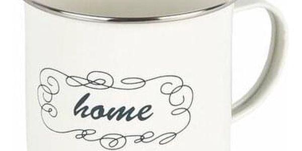 Plechový hrnek Home 400 ml, krémová