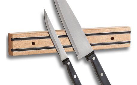 Magnetický držák na nože, dřevo bukové, ZELLER