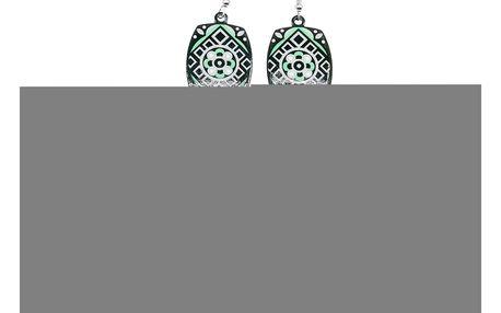 Fashion Icon Náušnice etno hranaté s řetízky