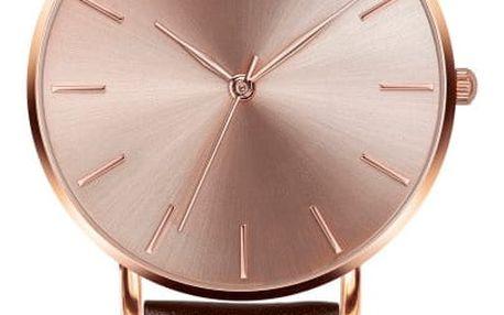 Dámské hodinky s hnědým páskem z pravé kůže Emily Westwood Top