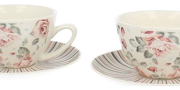 Sada 2 porcelánových šálků Duo Gift Růžička, 250 ml - doprava zdarma!2