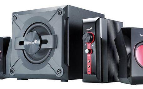 Reproduktory Genius SW-G 2.1 1250 (31730980100) černé/červené