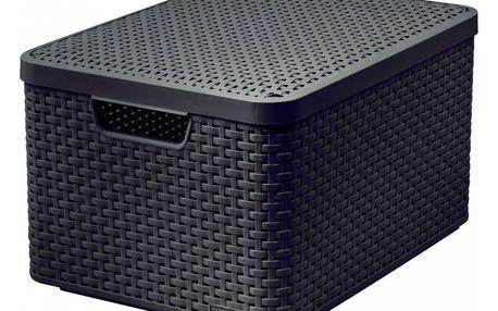 CURVER STYLE BOX 32301 Plastový úložný s víkem - L - hnědý