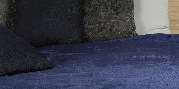 JAHU Deka XXL / Přehoz na postel tmavě modrá, 200 x 220 cm5