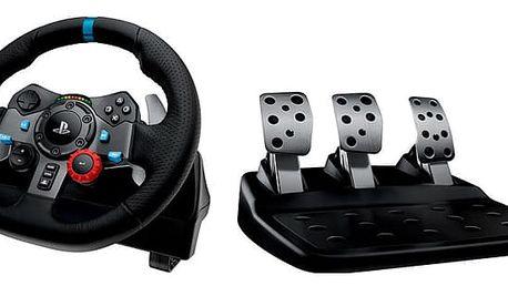 Volant Logitech G29 Driving Force pro PS3, PS4, PC + pedály černý (941-000112)