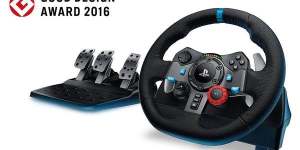 Volant Logitech G29 Driving Force pro PS3, PS4, PC + pedály (941-000112) černý2