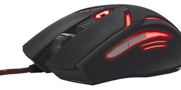 Myš Trust GXT 152 Gaming Illuminated (19509) černá/červená / optická / 6 tlačítek / 2400dpi4