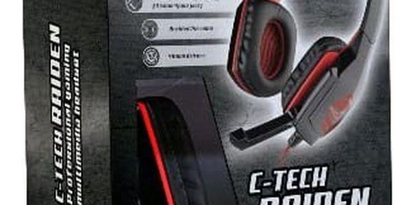 Headset C-Tech Raiden (GHS-03R), černo-červená (GHS-03R) černý2
