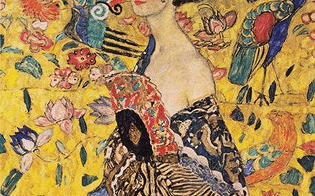 Reprodukce obrazu Gustav Klimt Lady With Fan, 40x40cm