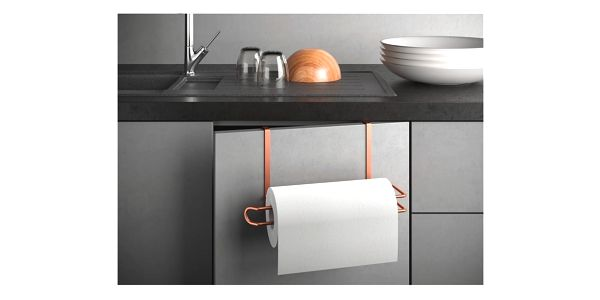 Závěsný držák na papírové utěrky v měděné barvě Metaltex2