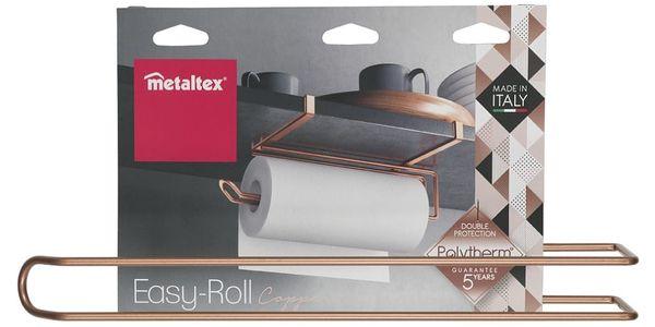 Závěsný držák na papírové utěrky v měděné barvě Metaltex3