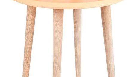 Oranžový konferenční stolek Ragaba UFO,⌀45 cm