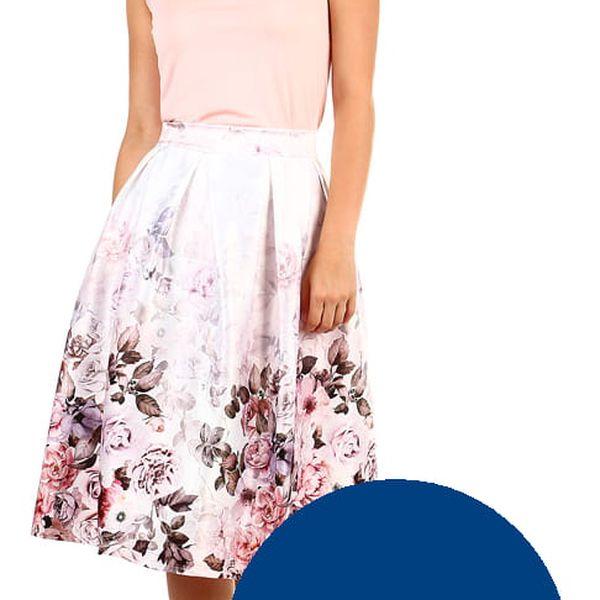 Dámská skládaná retro sukně tmavě modrá