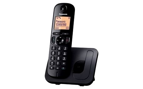 Domácí telefon Panasonic KX-TGC210FXB černý (KX-TGC210FXB)