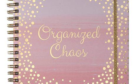 Zápisník Tri-Coastal Design Organized Chaos, 109 stránek
