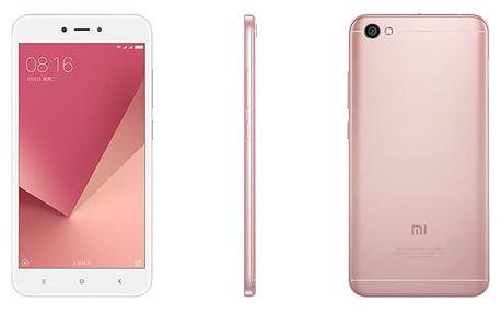 Mobilní telefon Xiaomi Redmi Note 5A 16 GB Dual SIM CZ LTE růžový + dárek (17116)
