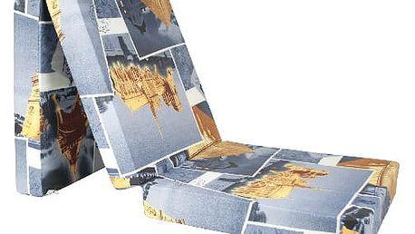 Kvalitní rozkládací matrace o rozměru 65x195x10cm více motivů
