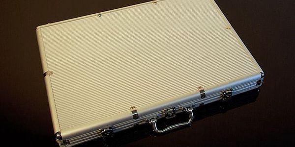 Garthen 491 Hliníkový kufr na 1000ks žetonů s příslušenstvím3