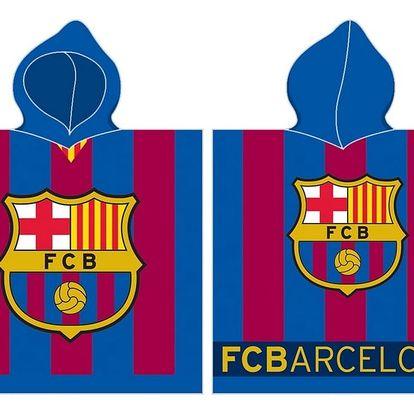 BedTex Dětské pončo FC Barcelona stripes, 50 x 100 cm