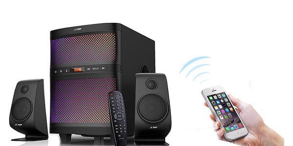 Reproduktory Fenda F&D F580X 2.1, bluetooth, rádio, USB, dálkové ovládání (F580X) černé4