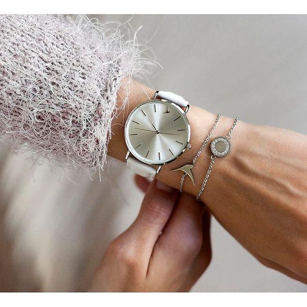 Dámské hodinky s bílým páskem z pravé kůže Emily Westwood Luxury2
