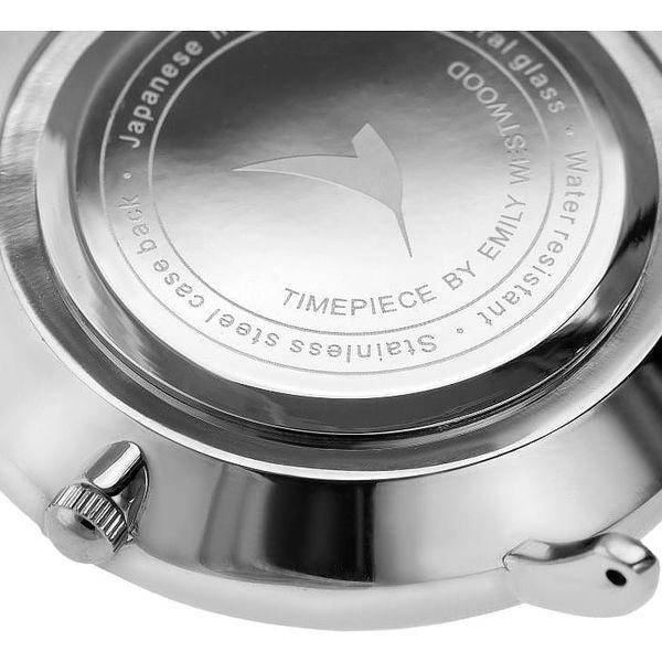 Dámské hodinky s bílým páskem z pravé kůže Emily Westwood Luxury3