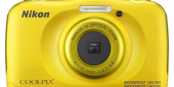 Digitální fotoaparát Nikon W100 BACKPACK KIT (VQA013K001) žlutý + DOPRAVA ZDARMA2