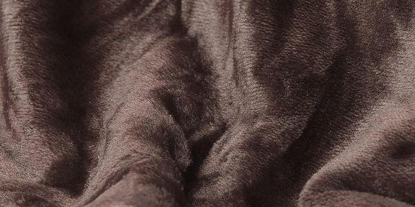 JAHU Deka XXL / Přehoz na postel tmavě hnědá, 200 x 220 cm3