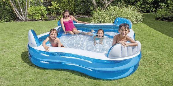 Bazén s opěradly 229x229x66 cm2