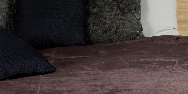 JAHU Deka XXL / Přehoz na postel tmavě hnědá, 200 x 220 cm4