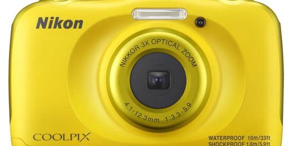 Digitální fotoaparát Nikon W100 BACKPACK KIT (VQA013K001) žlutý + DOPRAVA ZDARMA