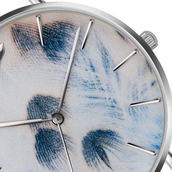 Dámské hodinky s bílým páskem z pravé kůže Emily Westwood Feather2