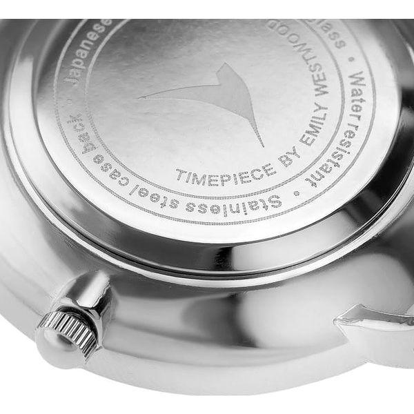 Dámské hodinky s bílým páskem z pravé kůže Emily Westwood Feather4