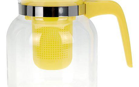 EH Excellent Houseware Čajová konvice CONFETTI, 1500 ml - barva žlutá