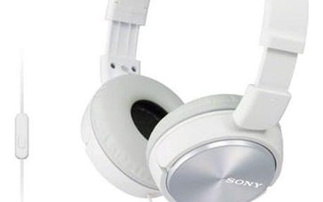 Sluchátka Sony MDRZX310APW.CE7 bílá (MDRZX310APW.CE7)