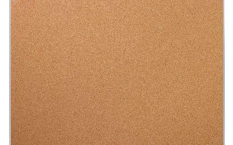 Korková tabule na poznámky, hliníkový rám 40x50 cm, EMAKO Emako