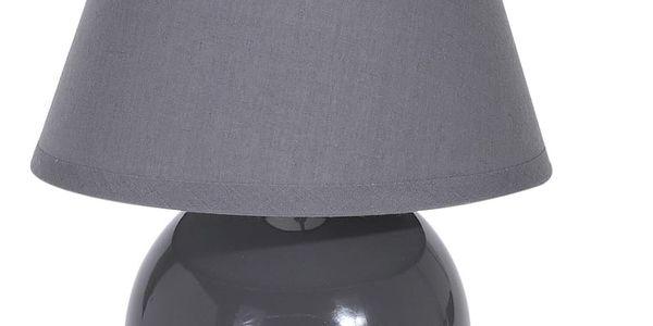 Lampička stolní, keramická - barva šedá Home Styling Collection